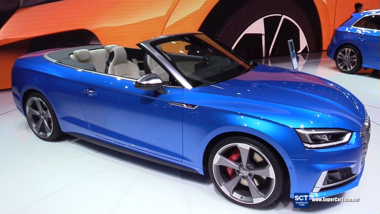 2018 audi s5 cabriolet exterior and interior walkaround debut 2017 geneva motor show youtube. Black Bedroom Furniture Sets. Home Design Ideas
