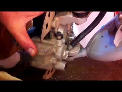 How to replace front brake pads on a Suzuki Ltz400