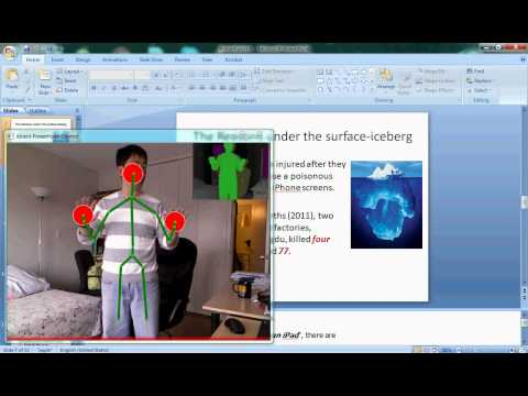 Using Kinect to do Powerpoint Presentation