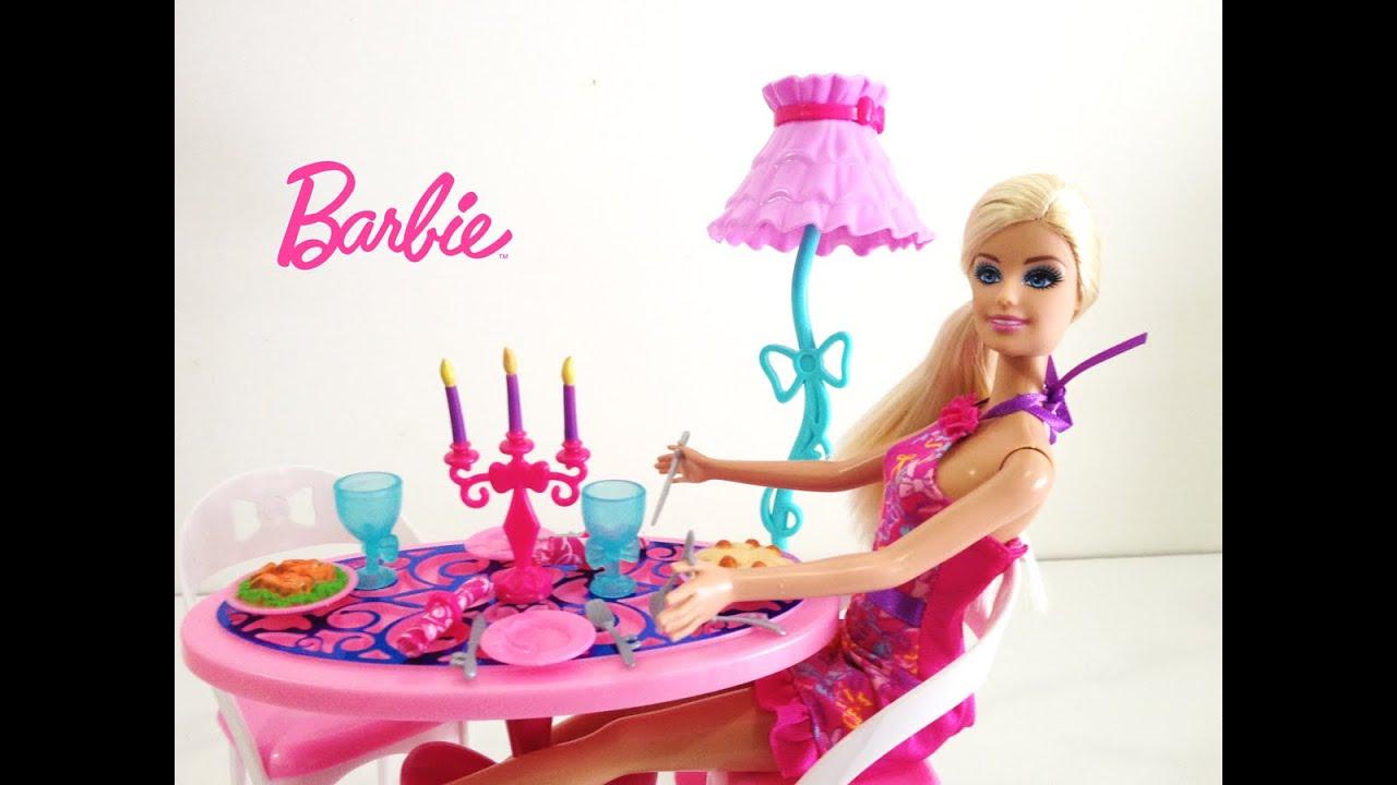 Sala De Jantar Lojas Americanas ~ Barbie Sala de Jantar da Boneca Barbie Móveis Dream House para