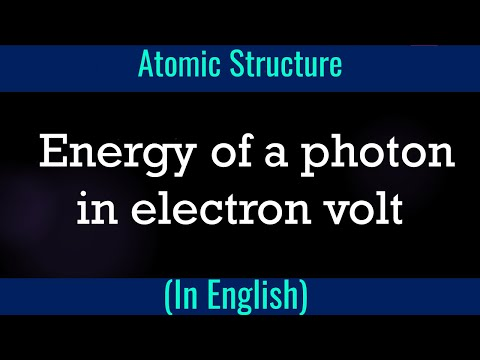 Energy of a photon in electron volt