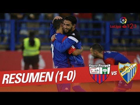 Resumen de Extremadura UD vs Málaga CF (1-0)
