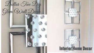 Dollar Tree Diy / Glam Wall Decor/ Interior Home Decor