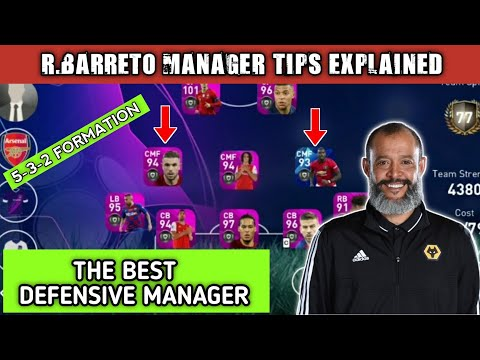 R.BARRETO ( WOLVES MANAGER) TIPS AND TACTICS IN PES 20| THE BEST DEFENSIVE MANAGER|