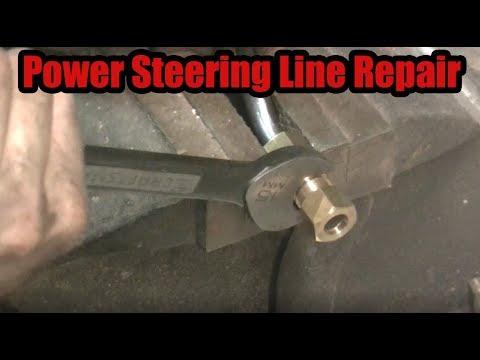 Repairing a Leaking Power Steering Line