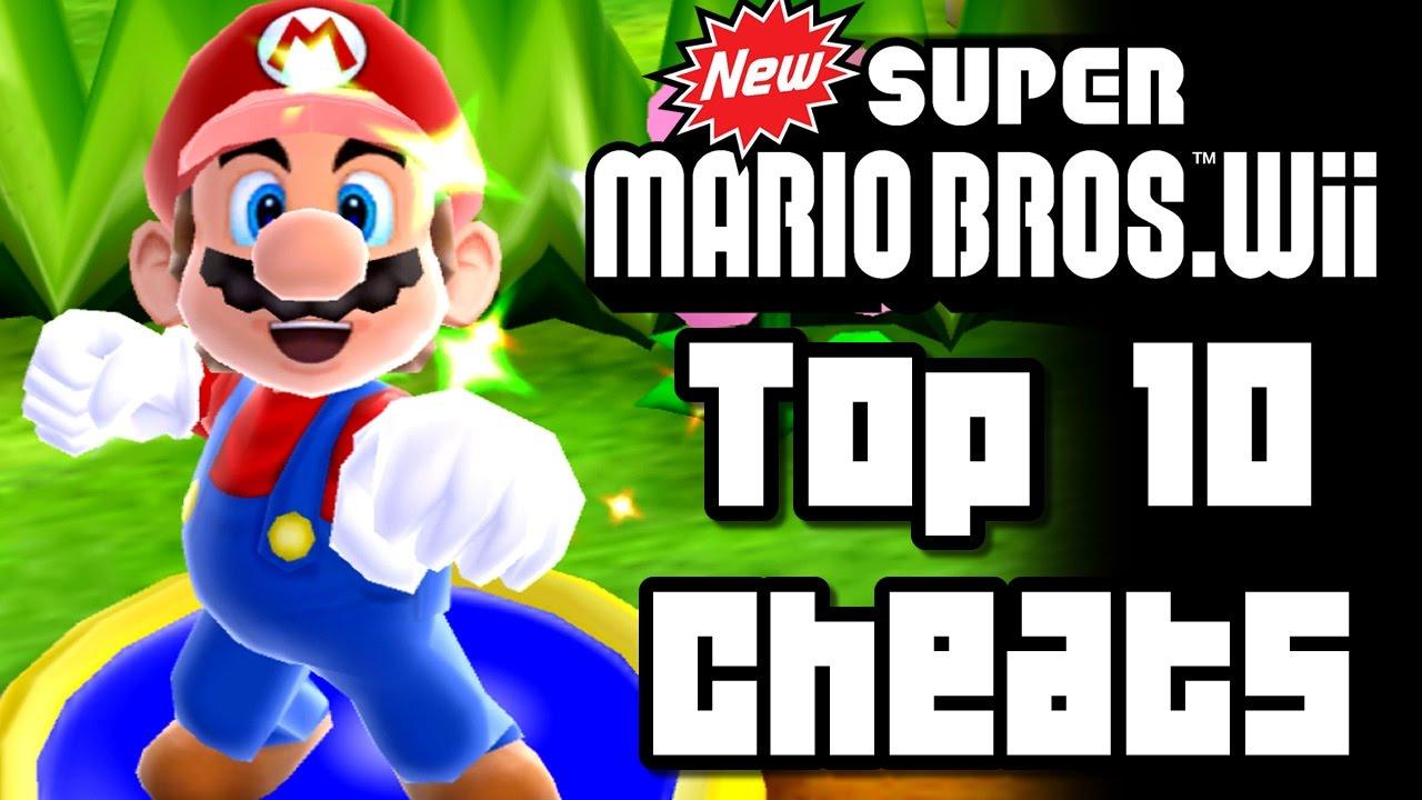 New <b>Super Mario Bros Wii</b> TOP 10 <b>CHEATS</b> (<b>Wii</b>) - YouTube
