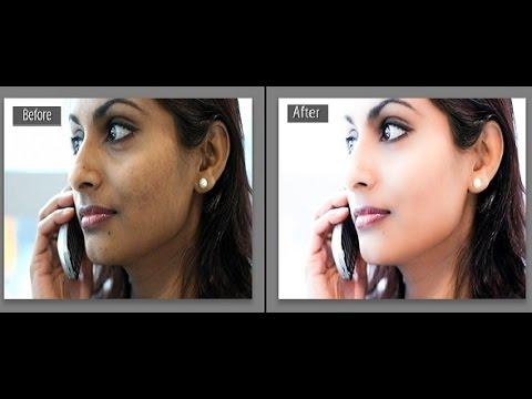 Lightroom Tutorial: How To Get Clean Smooth And Beautiful Face, FAST & EASY