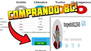 COMPRANDO BUILDERS CLUB NO ROBLOX ( BC )