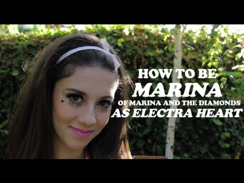 sc 1 st  YouTube & Halloween Tutorial: Marina and the Diamonds as Electra Heart - YouTube