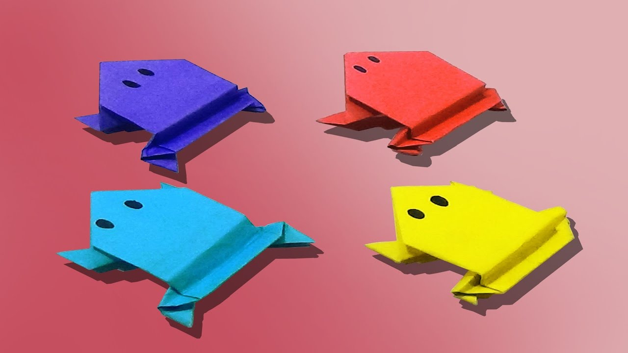 How to make an origami frog easy and simple steps youtube how to make an origami frog easy and simple steps jeuxipadfo Images