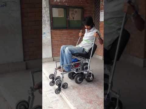 Manual Stairclimbing Wheelchair Testing