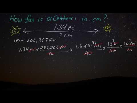 1.4.3 How far is Alpha Centauri in centimeters?