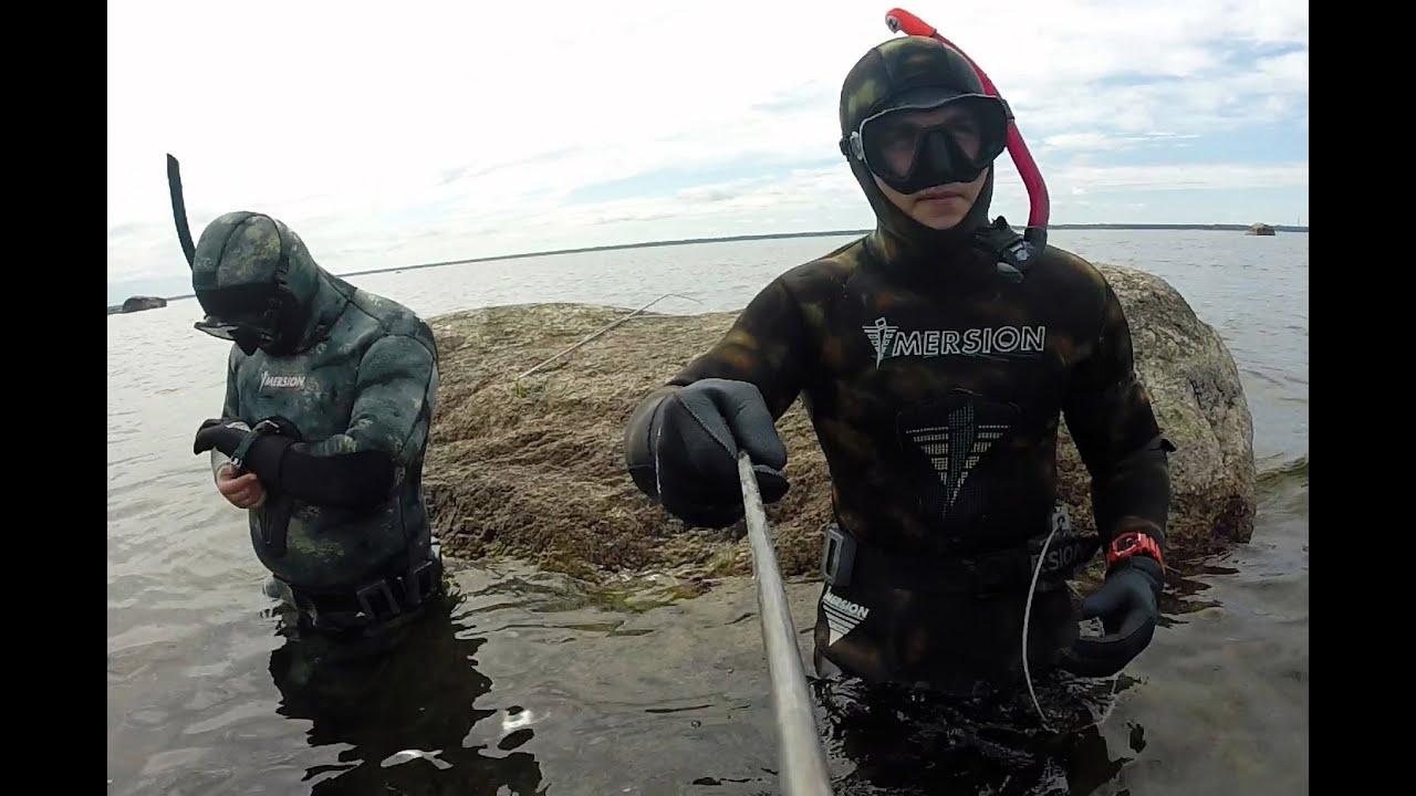 подводная охота #3 в балтийском море камбала