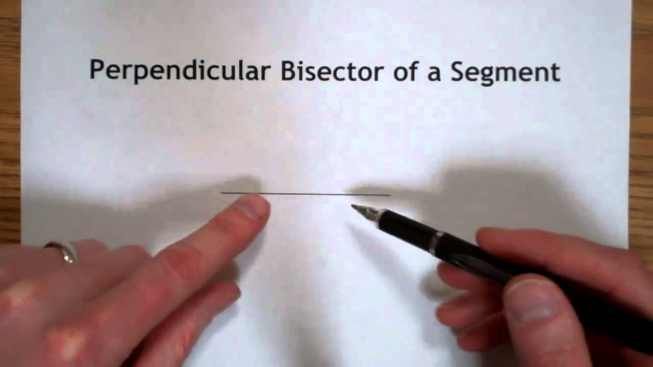 Perpendicular Bisector Construction Youtube