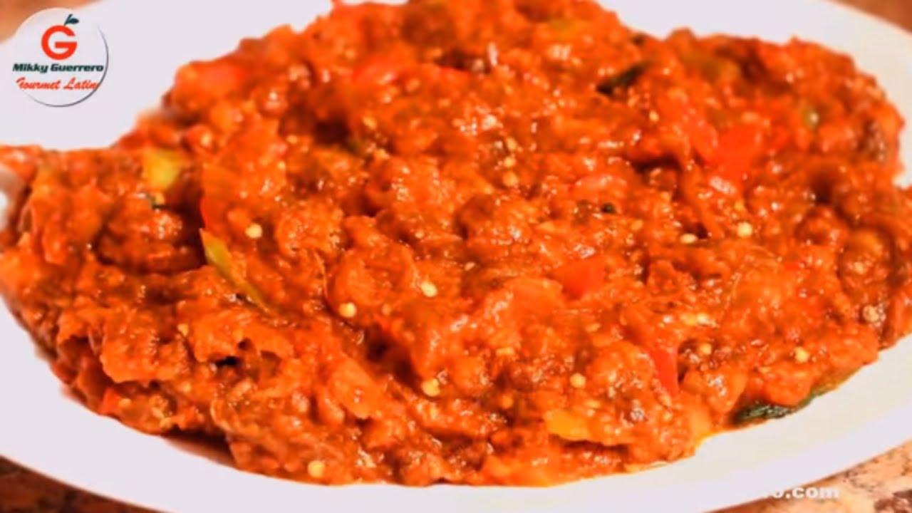 Como Cocinar Berenjena Guisada Mikkygourmetlatino Youtube