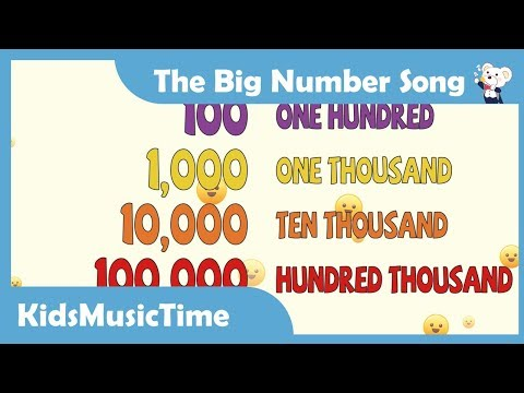 The Big Numbers Song - Learn to count from 1 to 1 trillion in English! KidsMusicTime