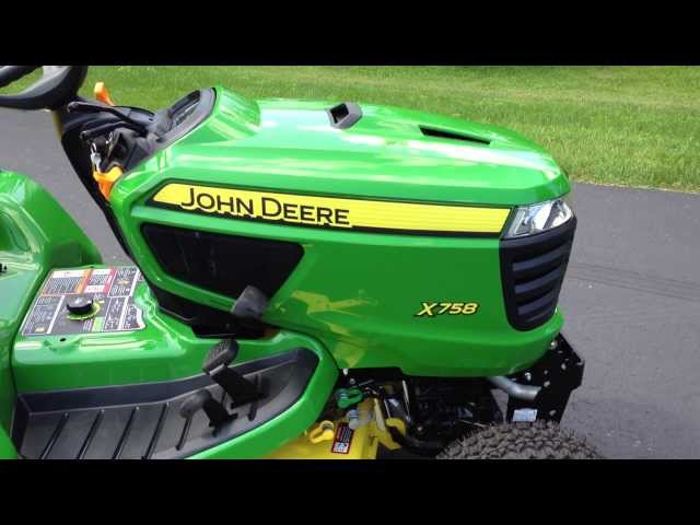 Riding Mower - John Deere X758 Seat Switch Bypass and RIO Switch