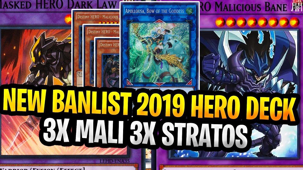Yugioh Ban List 2020.New 2019 Banlist God Hero Elemental Hero Deck October 2019 Banlist Yugioh Heroes Dark Law