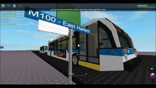 (Roblox) MTA NYCT Bus: M100 Noavbus LFSes#8383 and #8373 XD60 #4710 and Orion 7 NG HEV #4407