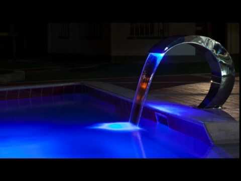 Cascadas para piscinas fuentes bali youtube - Fuentes para piscinas ...