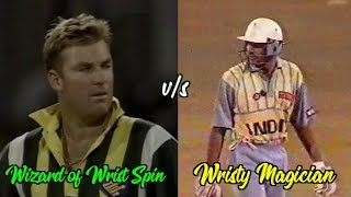 Azharuddin vs Shane Warne : 4,4,4,4,4,4,4,4,4,4,4,4 | Wristy Magician TAMES the Wizard of Wrist Spin