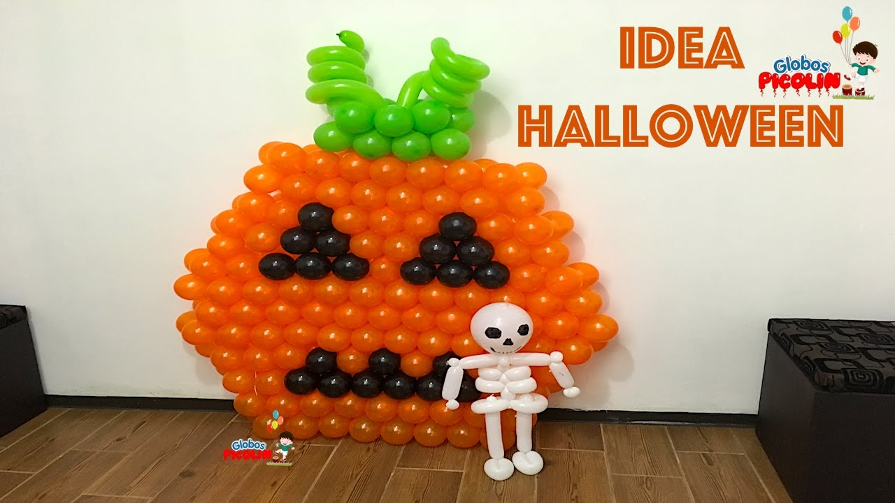 Como hacer una calabaza para halloween con globos youtube - Como hacer calabaza halloween ...