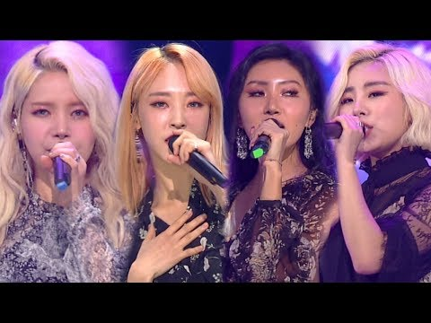 《POWERFUL》 MAMAMOO(마마무) - Starry Night(별이 빛나는 밤) @인기가요 Inkigayo 20180325