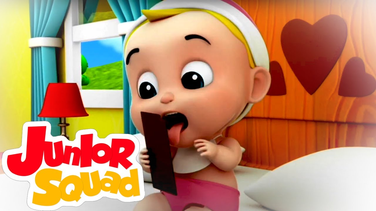 Johny johny si papa   Dibujos animados   Junior Squad Español   Canciones infantiles   Preescolar