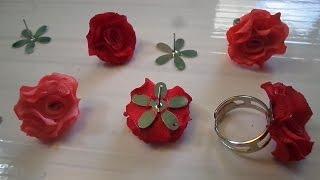 Como Fazer Flor de Tecido Oxford Para Brinco e Anel