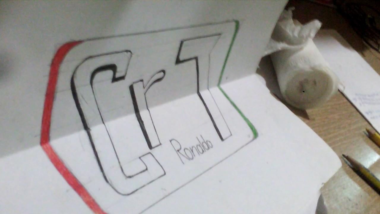 Vẽ chữ Cr7(cristiano ronaldo) 3D