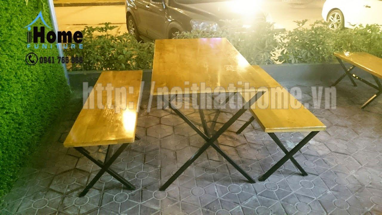 Bàn ghế quán ăn, quán bia, bàn ghế quán nhậu tại Hải Phòng