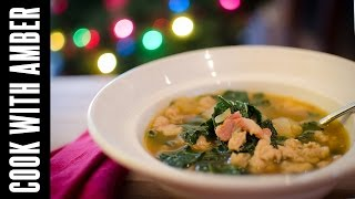 Christmas Eve Chicken Sausage And Kale Soup | Cook With Amber