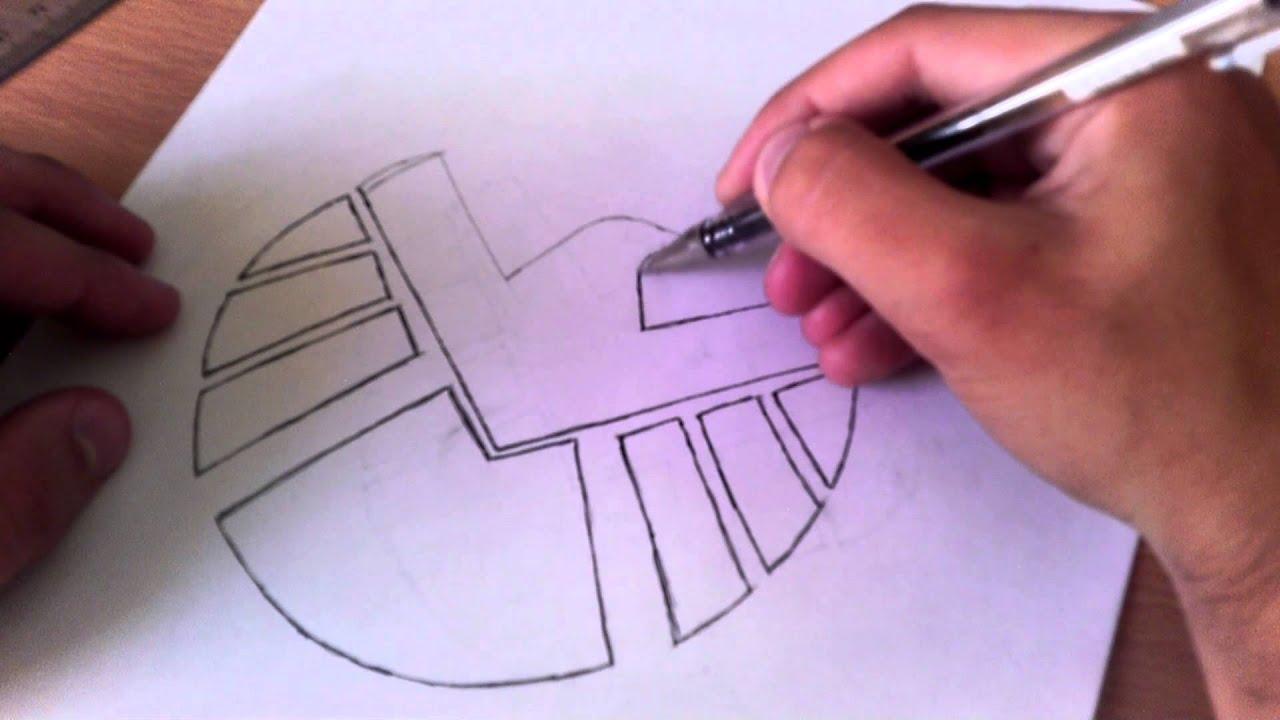 Marvel Shield Logo Speed Draw YouTube