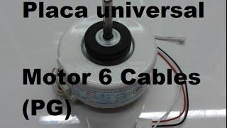 Placa universal Aire Acondicionado split  - Como conectar motor YouTube Videos