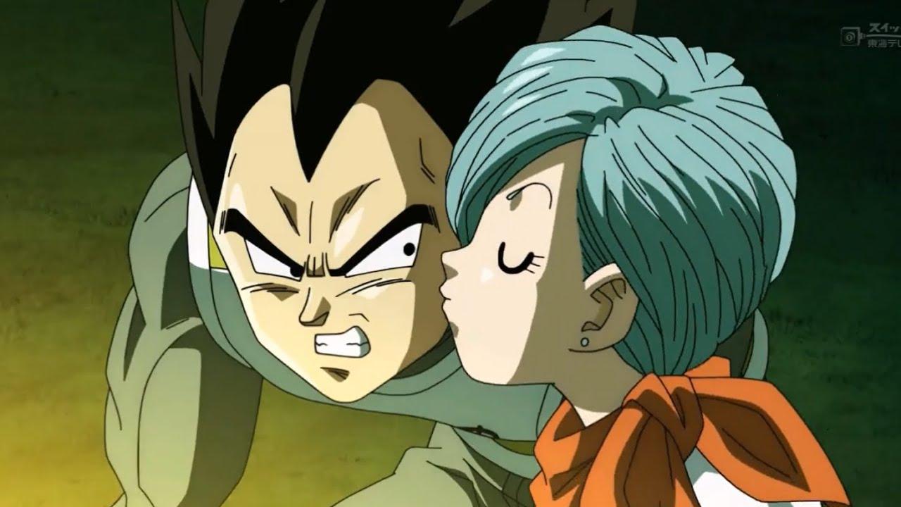 Dragon ball z vegeta and bulma kiss