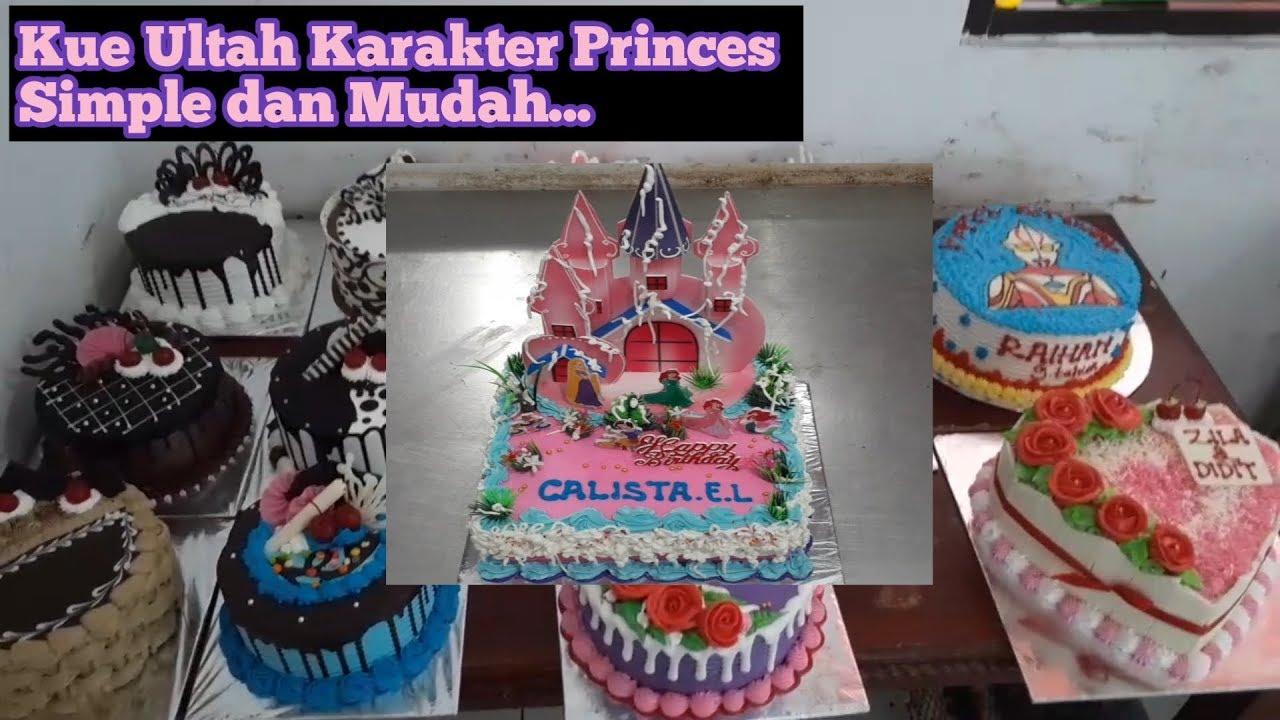 Kue Ulang Tahun Terbaru Anak Perempuan Princes Disney Princes Cake Decorating Butter Cream