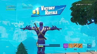 "FORTNITE First Win with BLUE ""HYBRID"" SKIN (""NINJA"" OUTFIT Showcase) 
