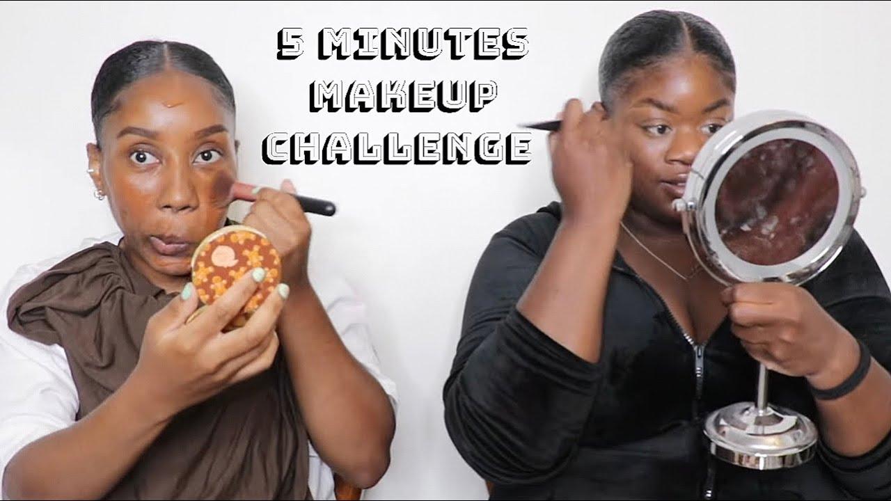 On corse le challenge ! 5 MIN MAKE UP CHALLENGE !