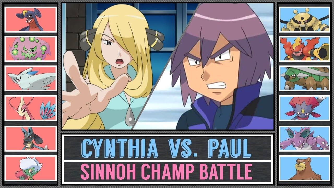 0ffdcfc3d61 Paul vs. Champion Cynthia (Pokémon Sun Moon) - Sinnoh Champion s ...