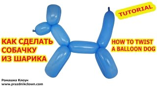 СОБАЧКА ИЗ ДЛИННОГО ШАРИКА ШДМ как сделать своими руками How to Make a Dog With Twisting Balloon