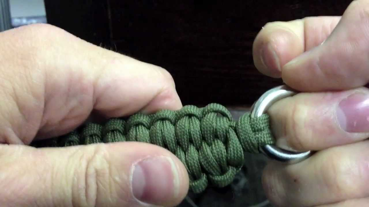 how to make a paracord quick deploy bracelet with the blaze bar youtube