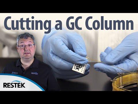 Cutting a GC Fused Silica Capillary Column