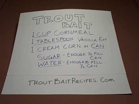 Trout bait recipe homemade fish bait recipe using common for How to make fish bait