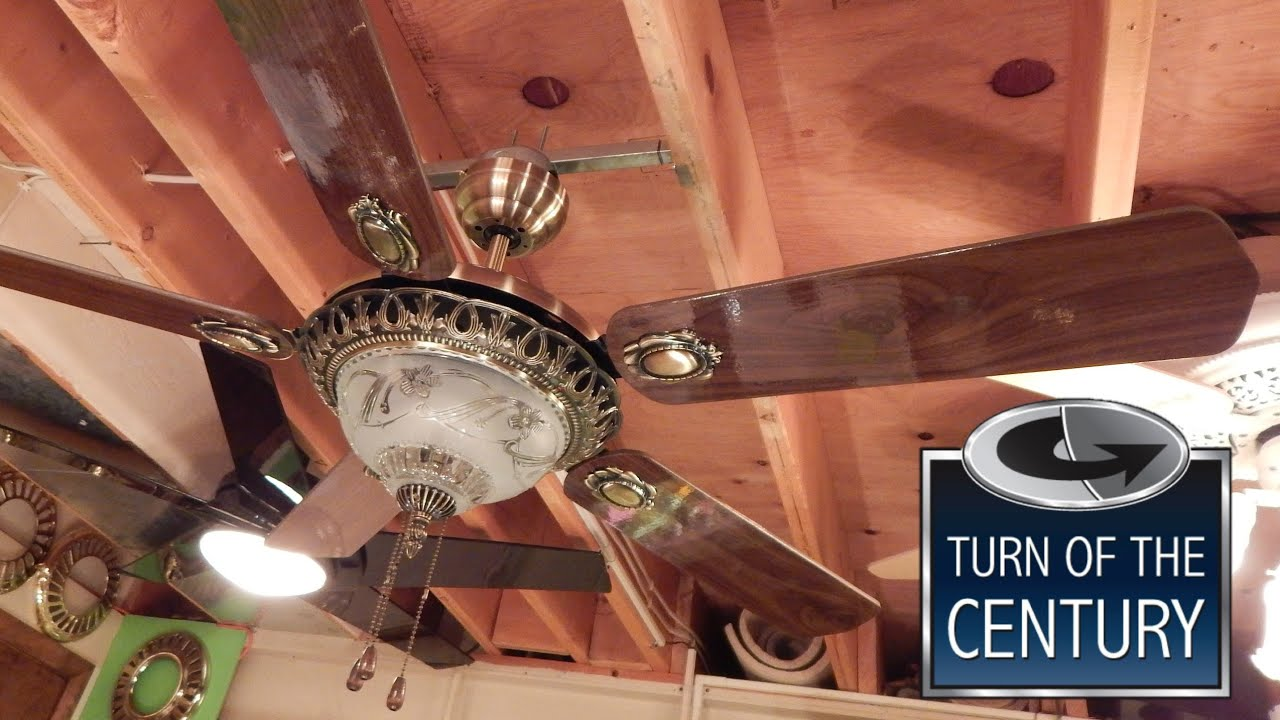 Turn of the Century Arabesque Ceiling Fan