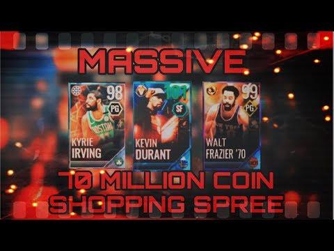 INSANE 70 MILLION COIN NBA LIVE MOBILE 18 SHOPPING SPREE!!