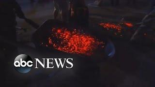 Dozens Hurt Walking on Hot Coals at Tony Robbins Event