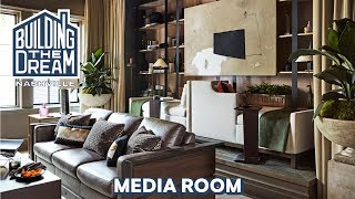 Modern Remains Designs A Cozy Media Room | Building The Dream Nashville | House Beautiful The Dream