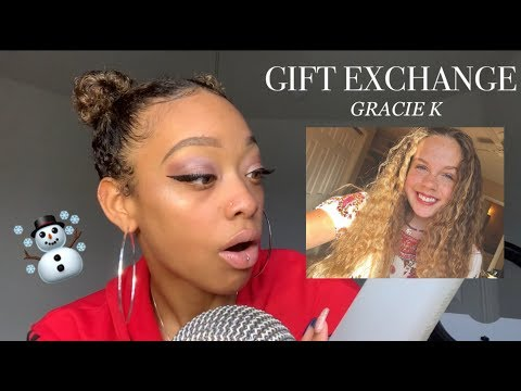 ASMR | GIFT EXCHANGE WITH GRACIE K ☃️🎄