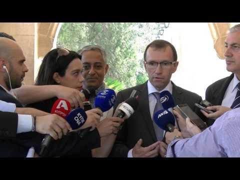 SASG Eide addresses the media following a meeting with Mr. Nicos Anastasiades (16/06/2017)
