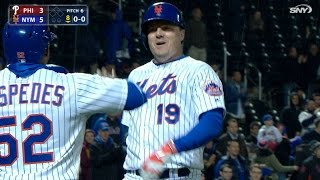 4/19/17: Bruce's two homers pace Mets to 5-4 win
